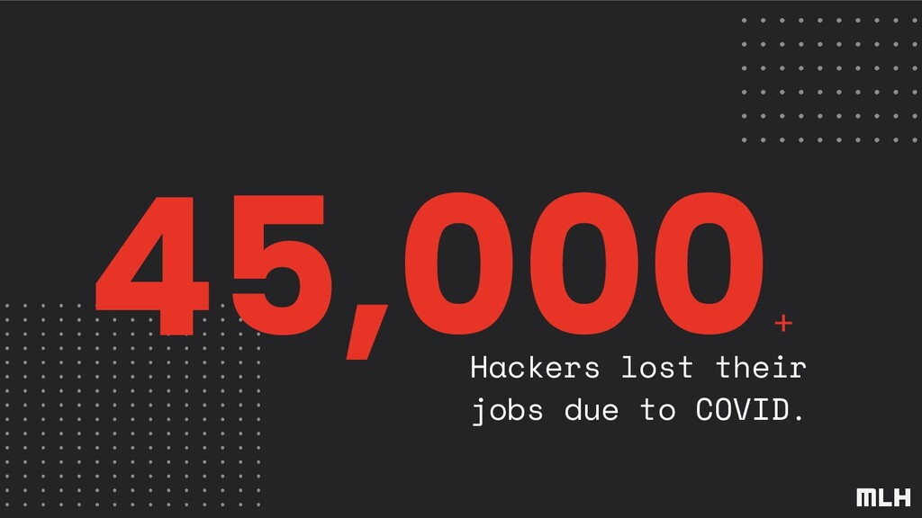 45,000 + Hackers lost their jobs due to COVID.
