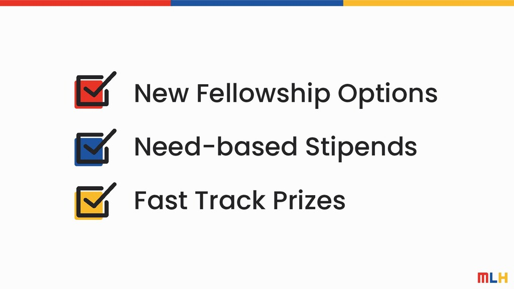 Need-based Stipends Fast Track Prizes New Fello...