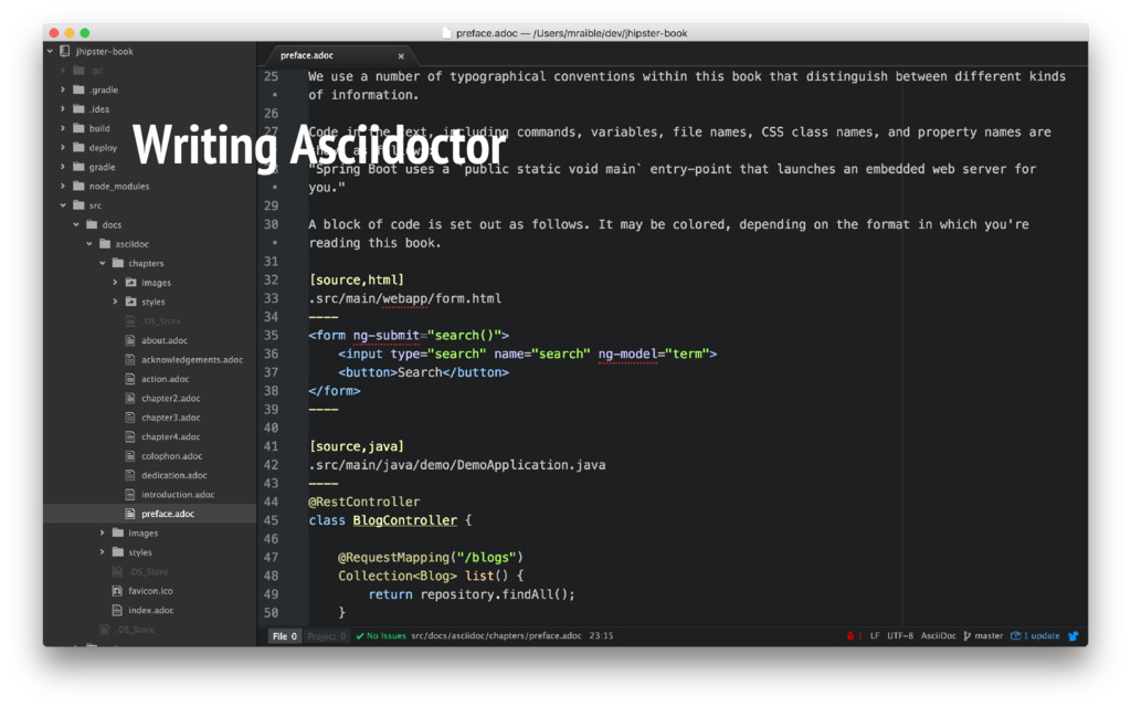 Writing Asciidoctor
