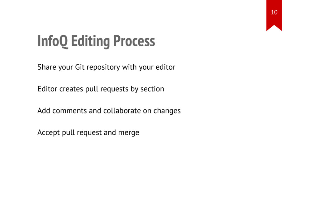 InfoQ Editing Process • Share your Git reposito...