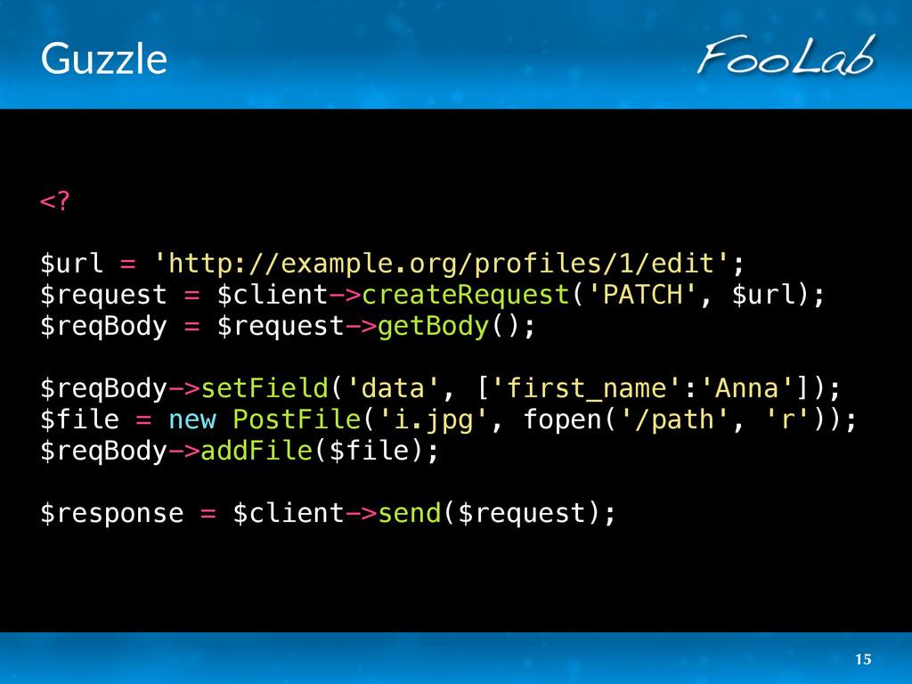 Guzzle <? $url = 'http://example.org/profiles/1...