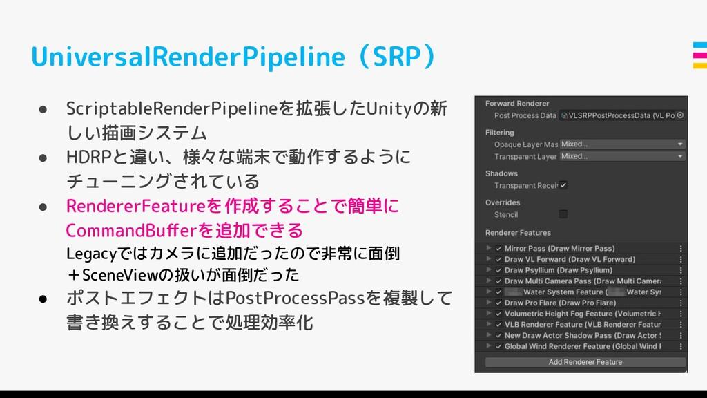 UniversalRenderPipeline(SRP) ● ScriptableRender...