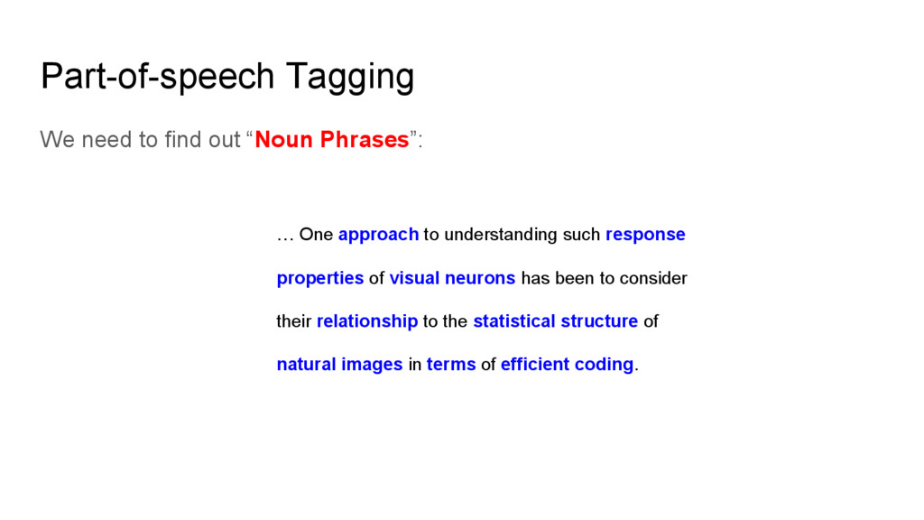 """Part-of-speech Tagging We need to find out """"Nou..."""
