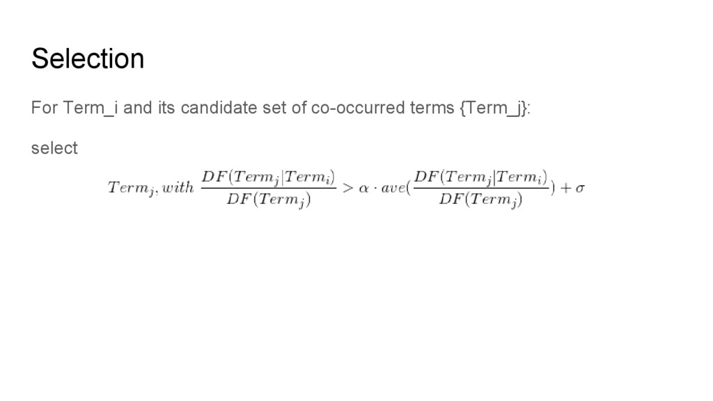 For Term_i and its candidate set of co-occurred...
