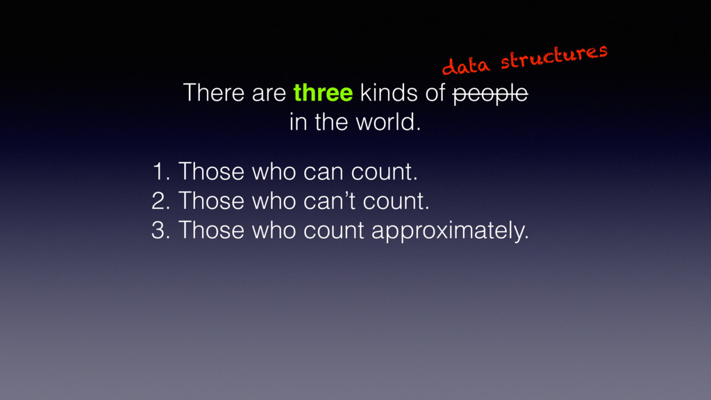 There are three kinds of people in the world. d...