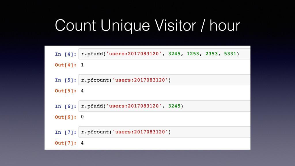 Count Unique Visitor / hour