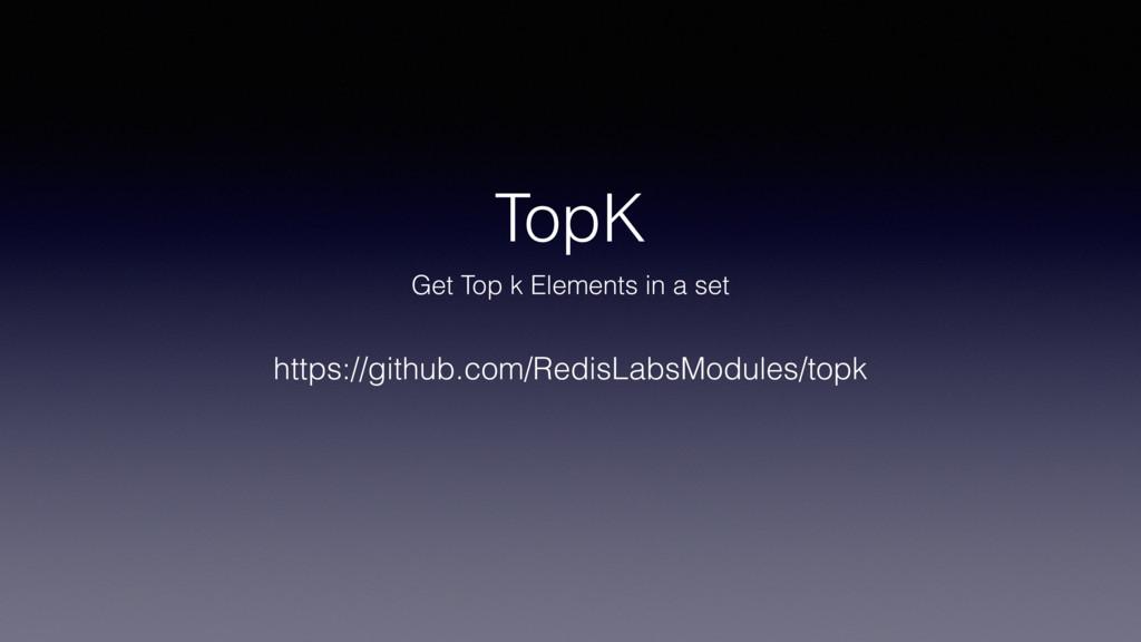 TopK Get Top k Elements in a set https://github...