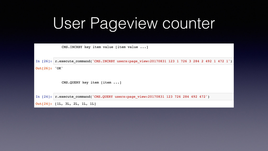 User Pageview counter
