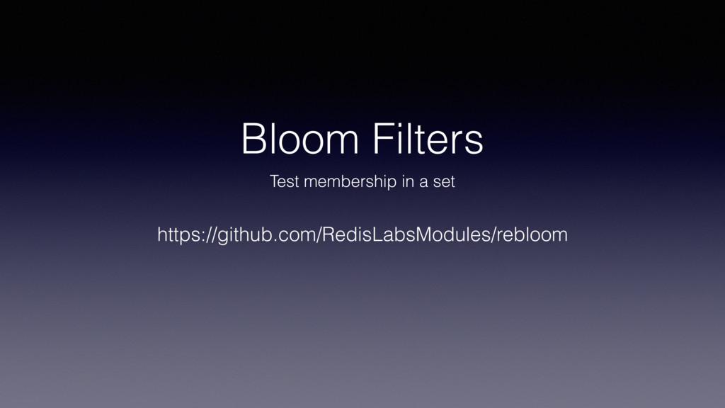 Bloom Filters Test membership in a set https://...