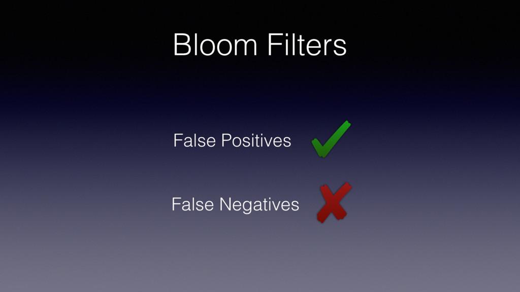 Bloom Filters False Positives False Negatives