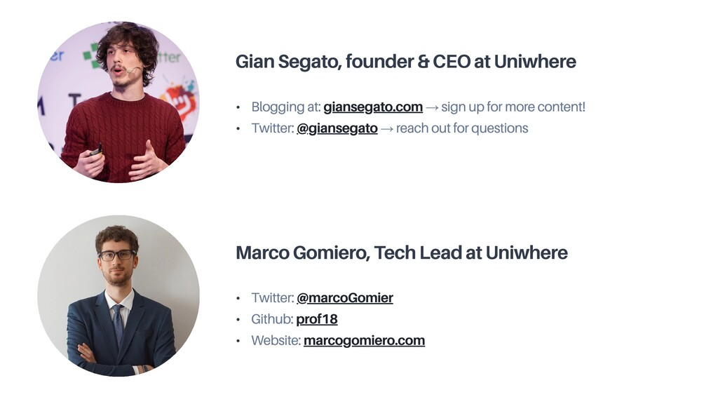 Gian Segato, founder & CEO at Uniwhere • Bloggi...