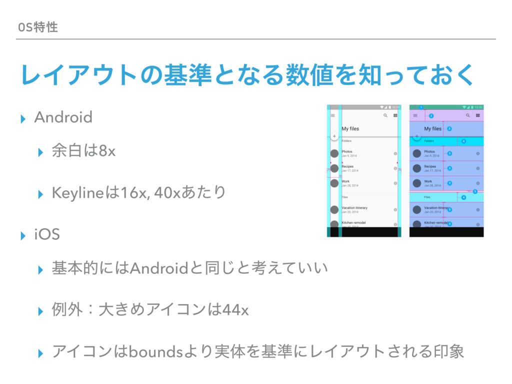 OSಛੑ ϨΠΞτͷج४ͱͳΔΛ͓ͬͯ͘ ▸ Android ▸ ༨ന8x ▸ Ke...