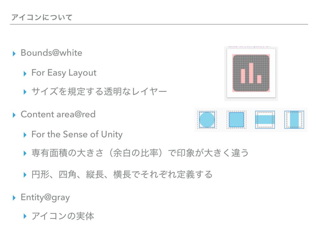 ΞΠίϯʹ͍ͭͯ ▸ Bounds@white ▸ For Easy Layout ▸ αΠζ...