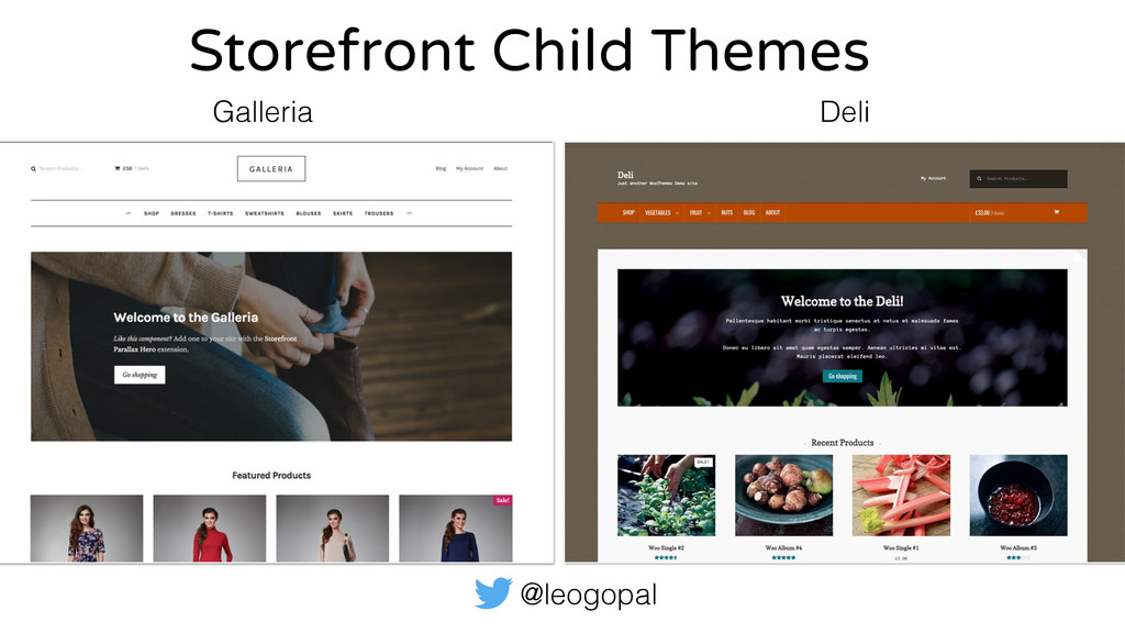 @leogopal Storefront Child Themes Galleria Deli