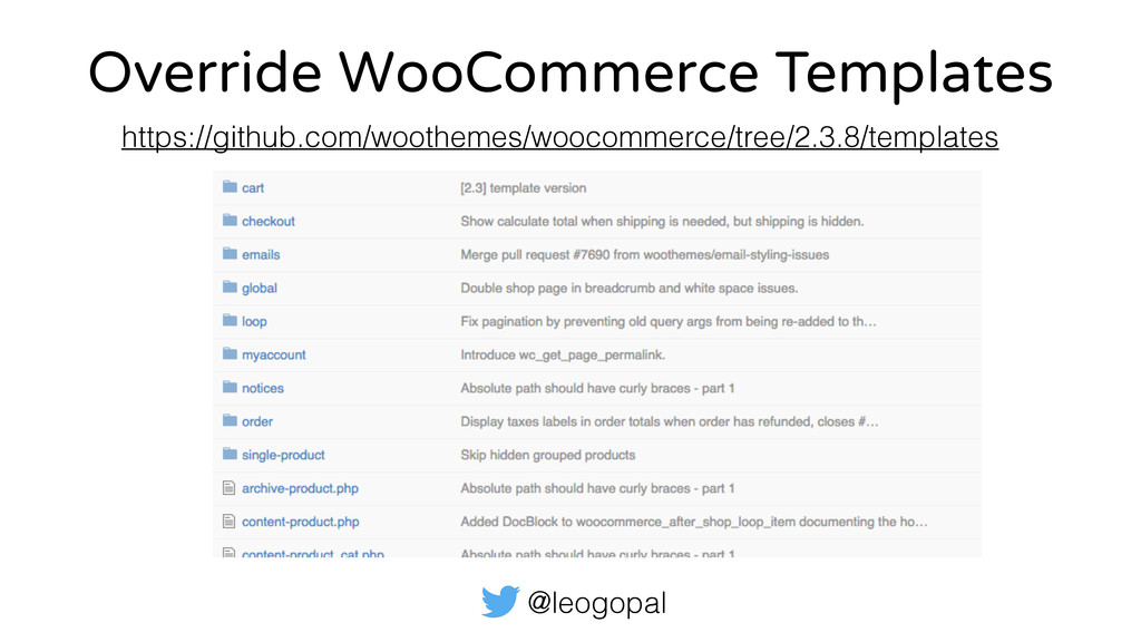 @leogopal Override WooCommerce Templates https:...