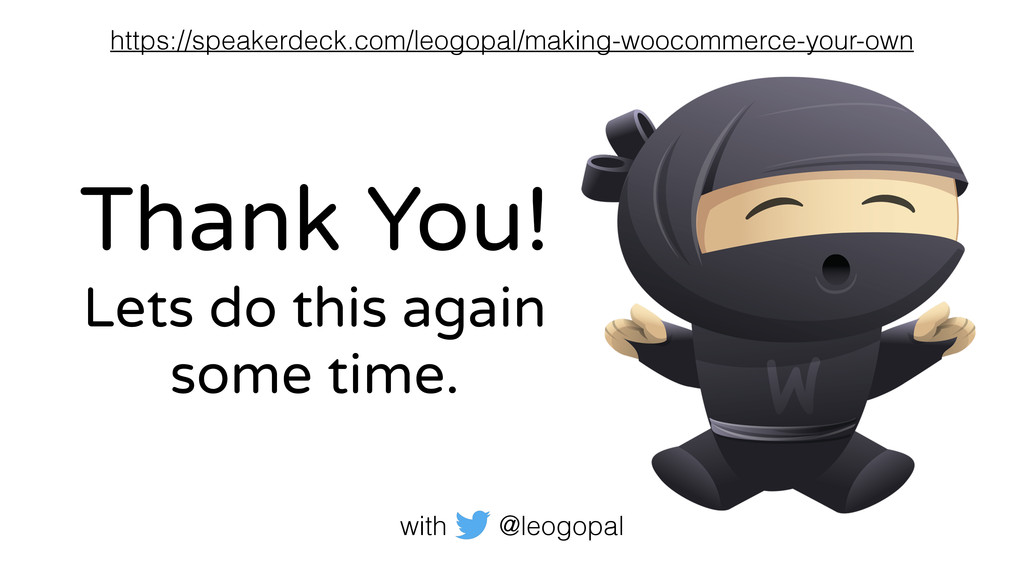 Thank You! Lets do this again some time. with @...