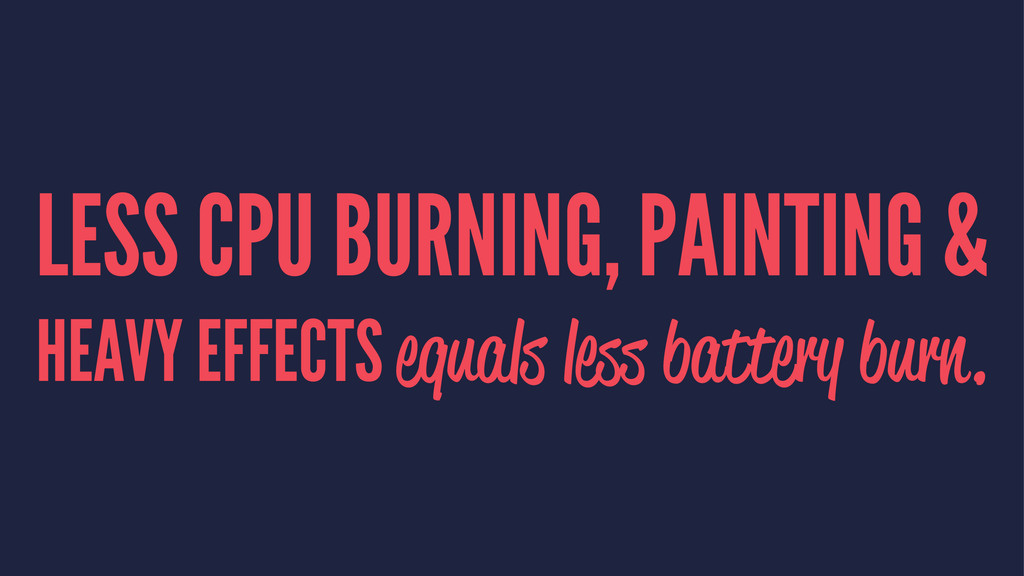 LESS CPU BURNING, PAINTING & HEAVY EFFECTS equa...