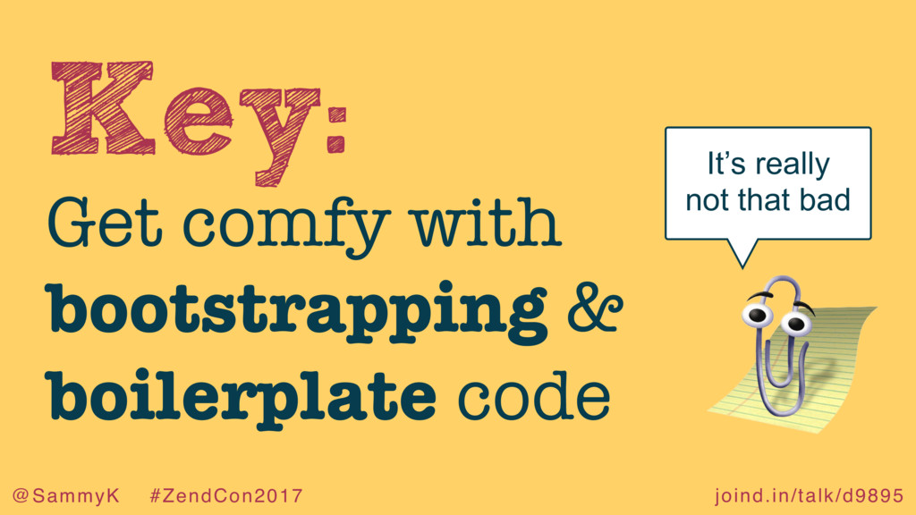 joind.in/talk/d9895 @SammyK #ZendCon2017 Key: G...