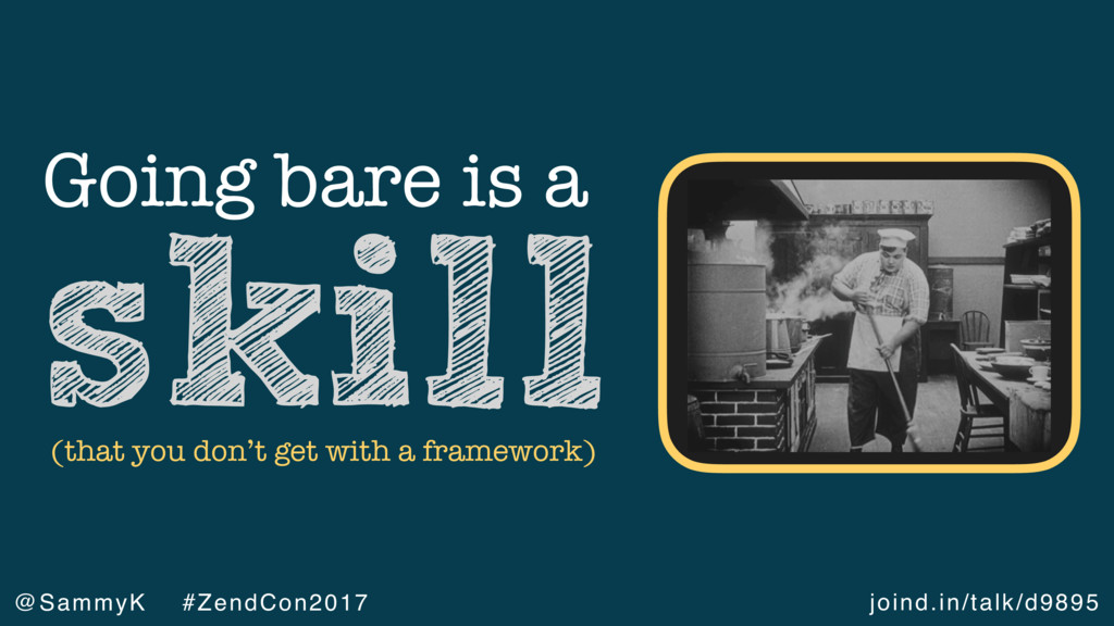 joind.in/talk/d9895 @SammyK #ZendCon2017 Going ...