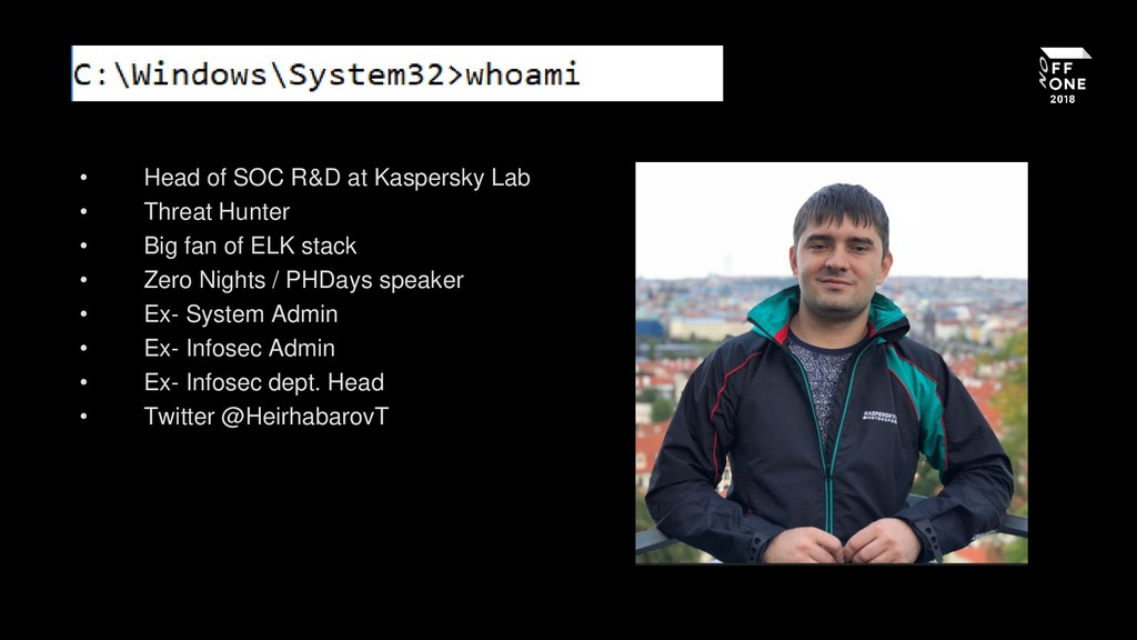 • Head of SOC R&D at Kaspersky Lab • Threat Hun...