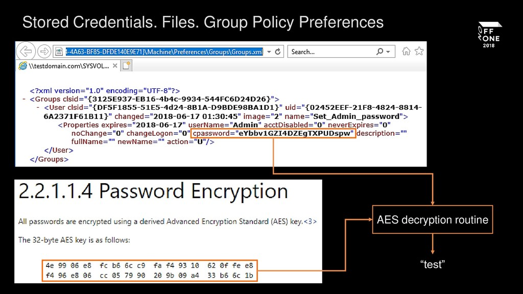 Stored Credentials. Files. Group Policy Prefere...
