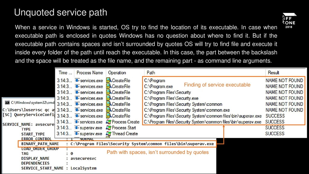 When a service in Windows is started, OS try to...