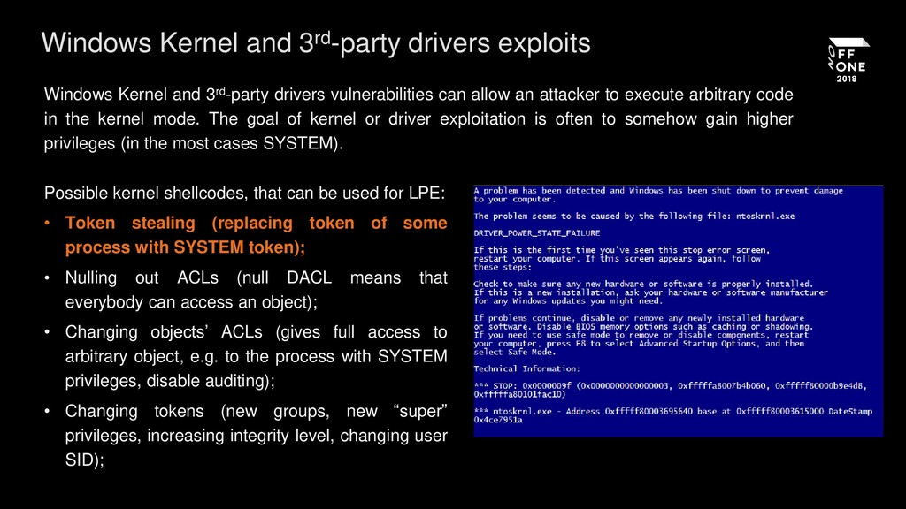 Windows Kernel and 3rd-party drivers exploits W...