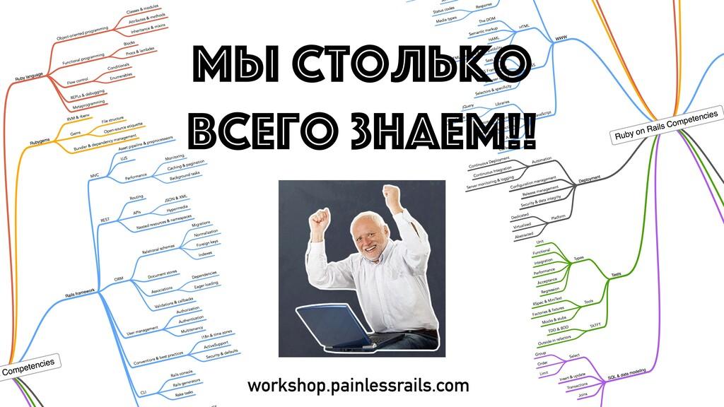 МЫ СТОЛЬКО ВСЕГО ЗНАЕМ!! workshop.painlessrails...