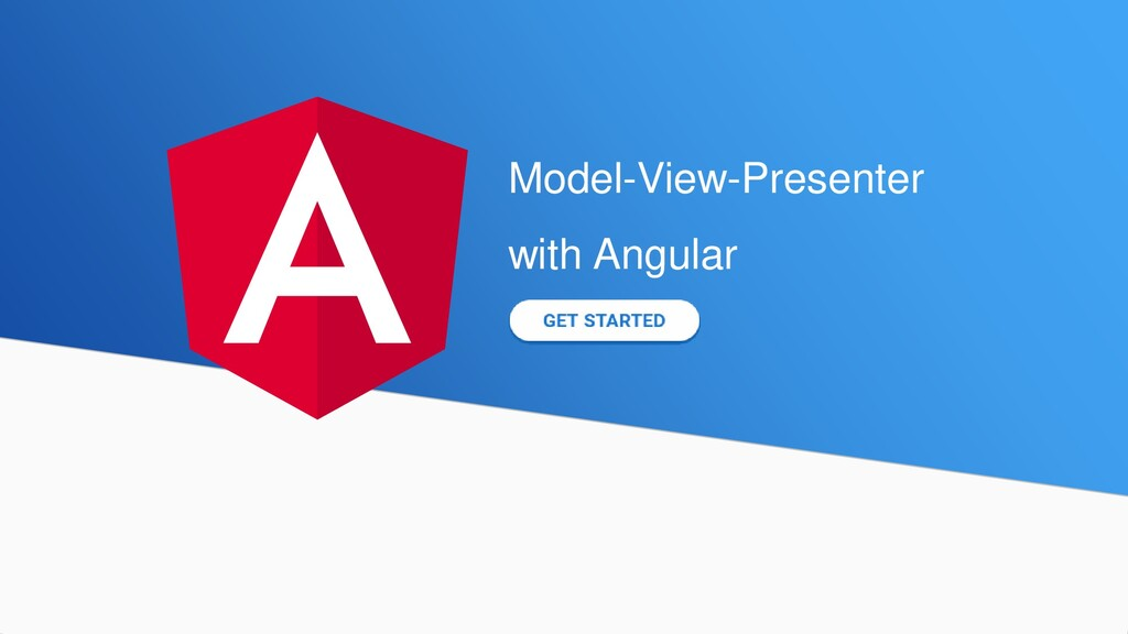 Model-View-Presenter with Angular