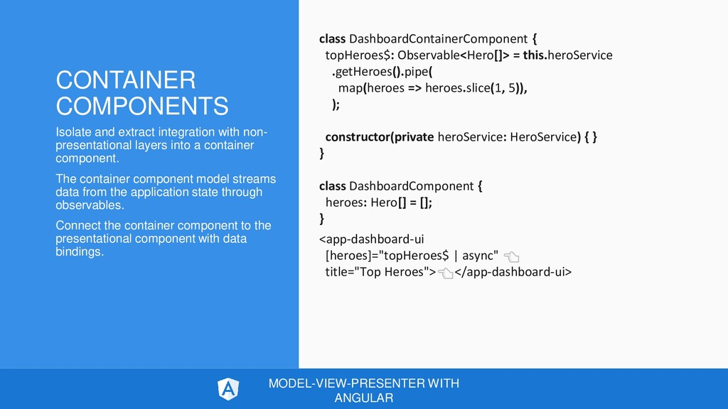 CONTAINER COMPONENTS Isolate and extract integr...