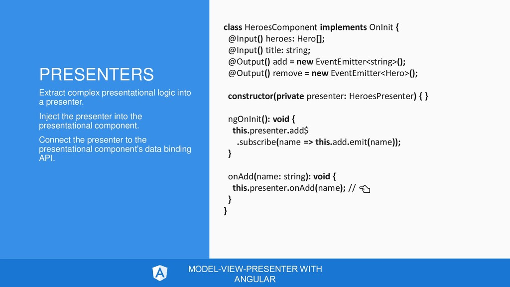 class HeroesComponent implements OnInit { @Inpu...