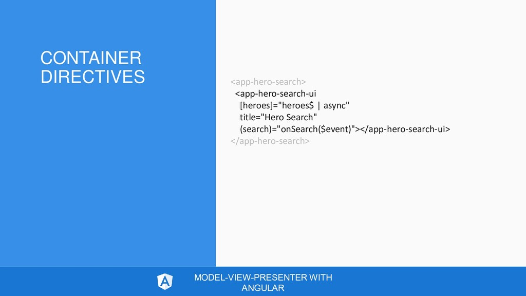 CONTAINER DIRECTIVES MODEL-VIEW-PRESENTER WITH ...