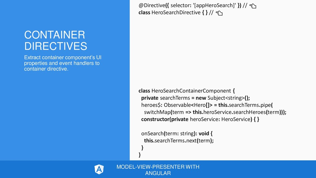 CONTAINER DIRECTIVES Extract container componen...