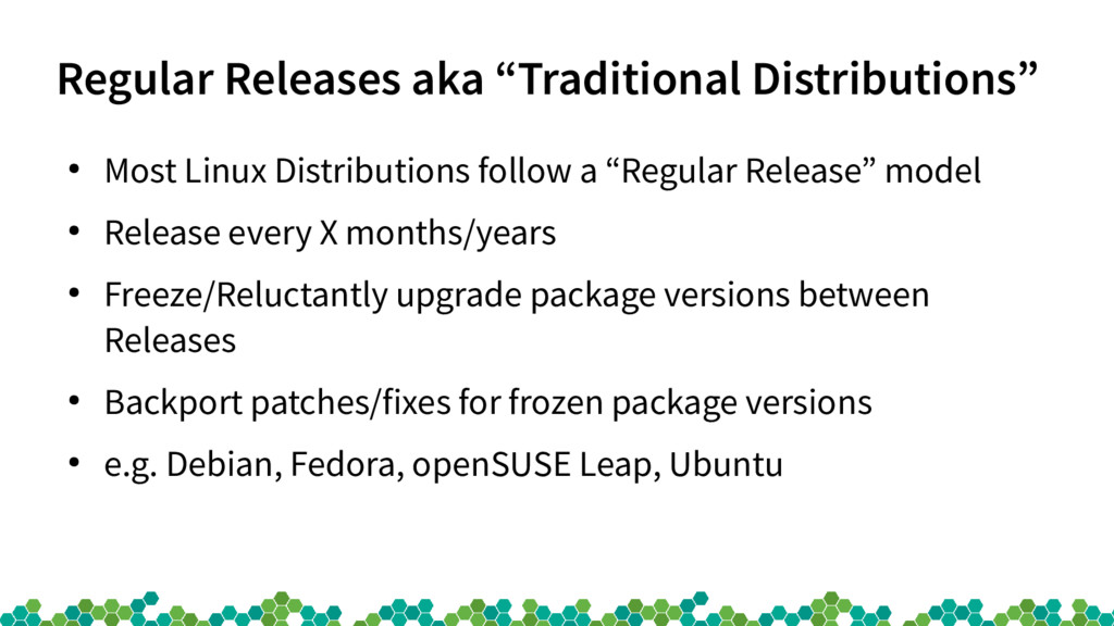 "Regular Releases aka ""Traditional Distributions..."