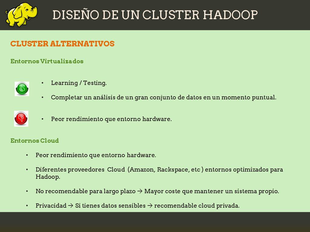 DISEÑO DE UN CLUSTER HADOOP CLUSTER ALTERNATIVO...