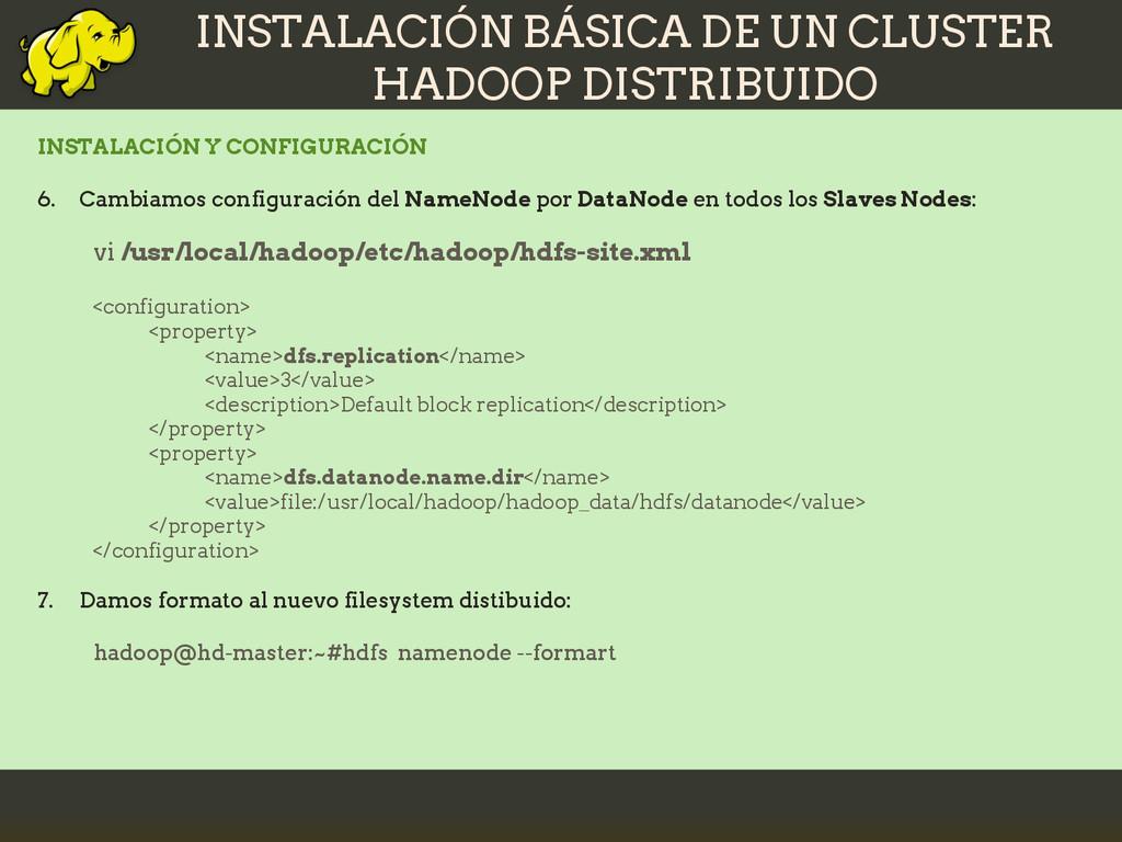 INSTALACIÓN BÁSICA DE UN CLUSTER HADOOP DISTRIB...