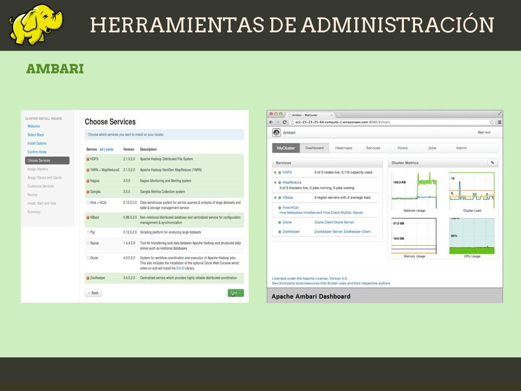 HERRAMIENTAS DE ADMINISTRACIÓN AMBARI