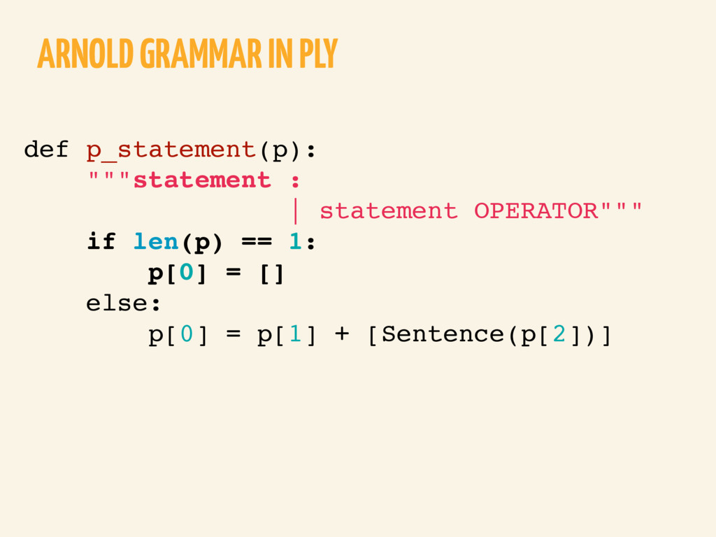 "ARNOLD GRAMMAR IN PLY def p_statement(p): """"""st..."