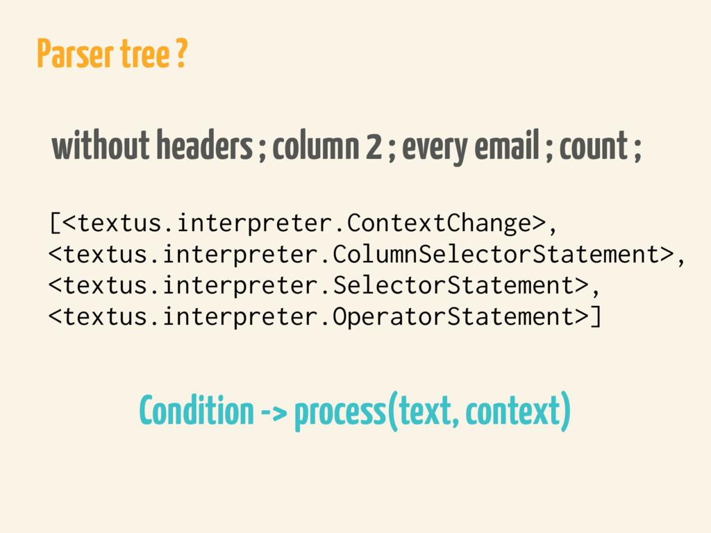 Parser tree ? [<textus.interpreter.ContextChang...