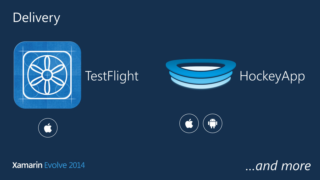 Delivery TestFlight HockeyApp …and more