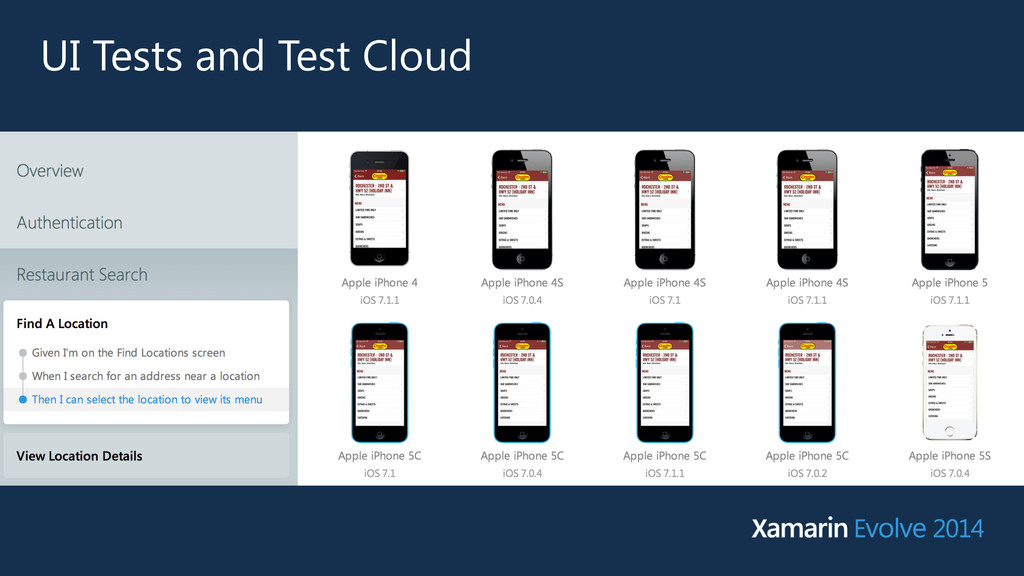 UI Tests and Test Cloud