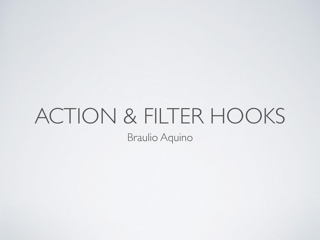 ACTION & FILTER HOOKS Braulio Aquino