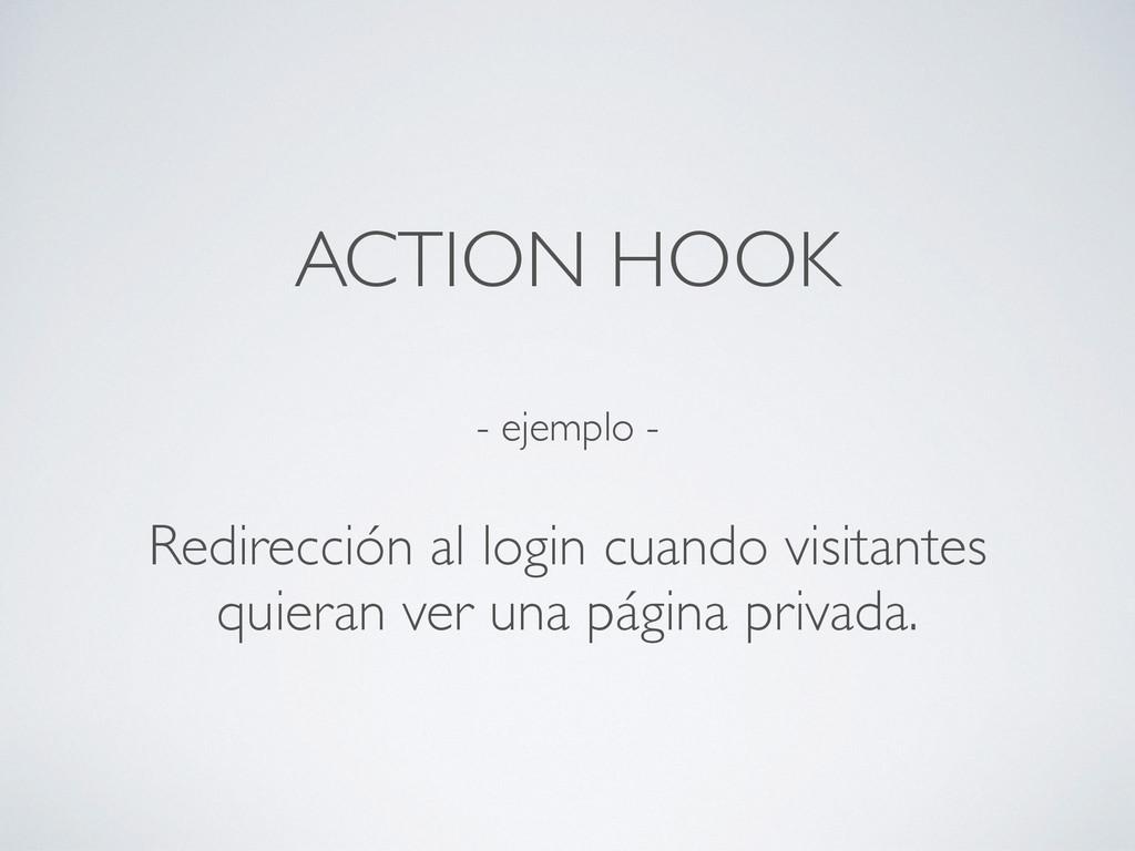 - ejemplo - Redirección al login cuando visitan...