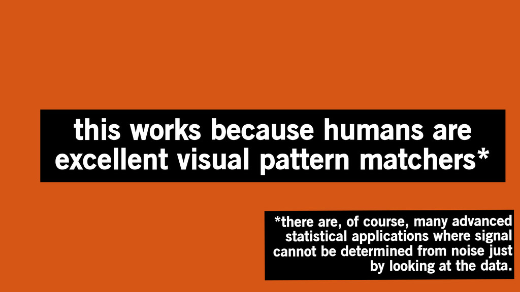 this works because humans are excellent visual ...