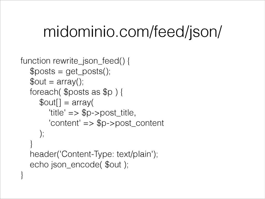 midominio.com/feed/json/ function rewrite_json_...