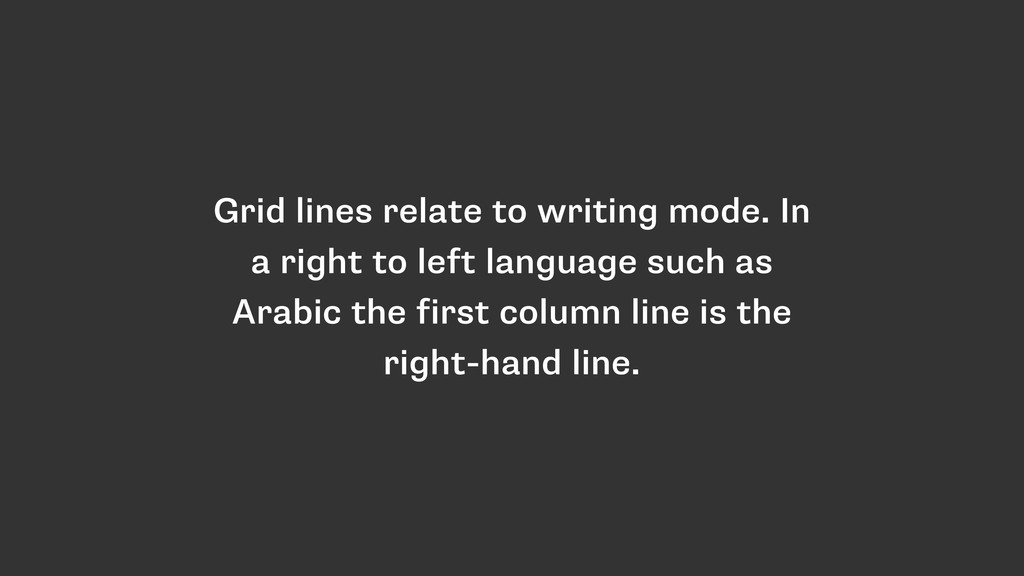 Grid lines relate to writing mode. In a right t...
