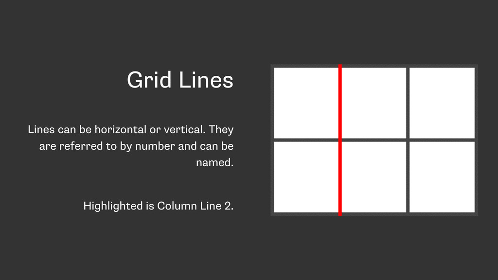 Grid Lines Lines can be horizontal or vertical....