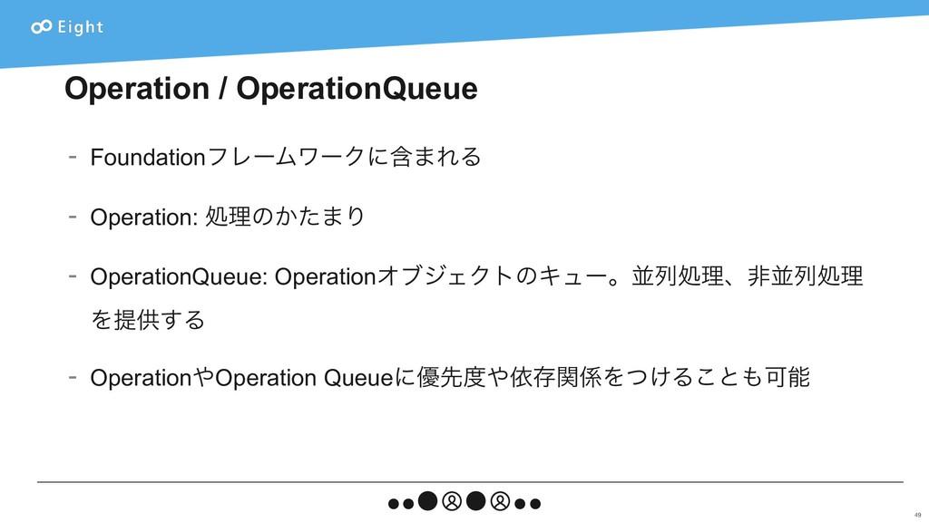 Operation / OperationQueue - FoundationϑϨʔϜϫʔΫʹ...