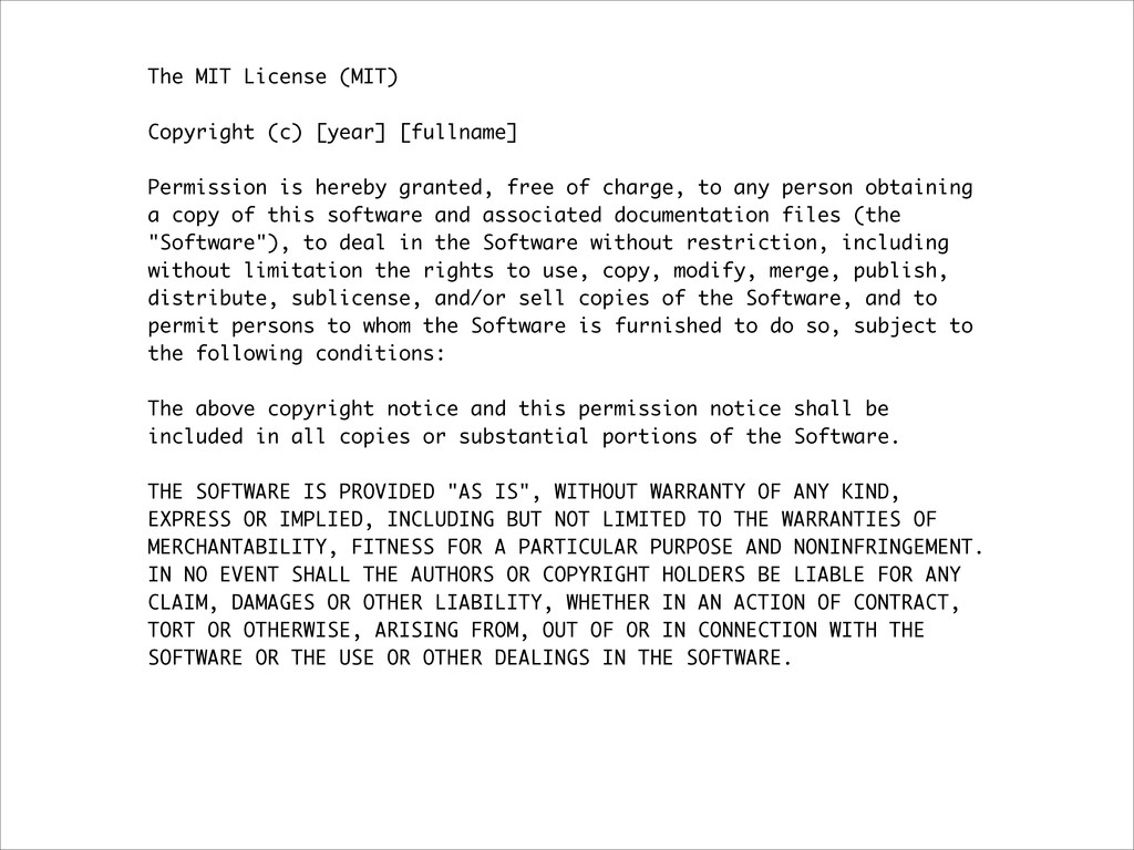 The MIT License (MIT) ! Copyright (c) [year] [f...