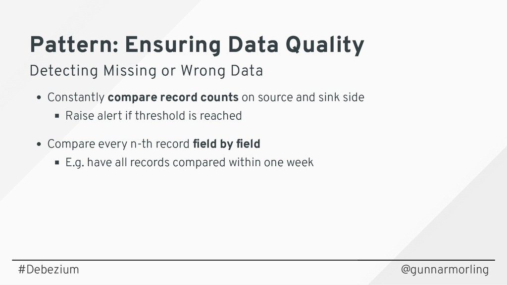 Pattern: Ensuring Data Quality Pattern: Ensurin...